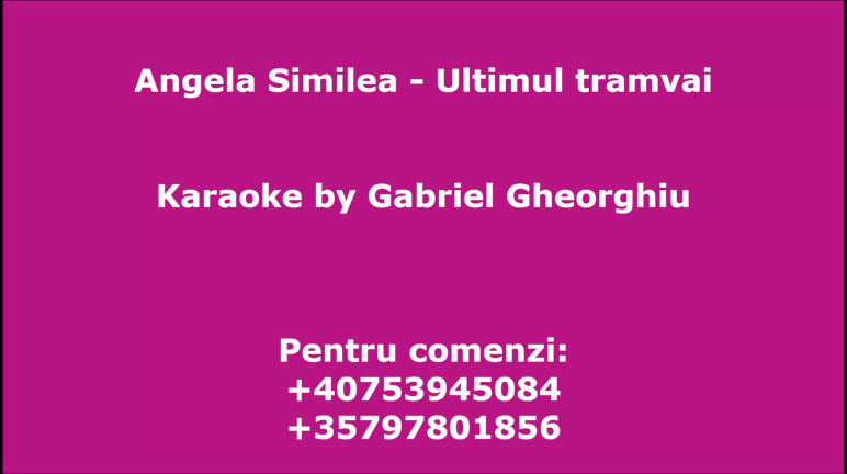 Ultimul tramvai – Angela Similea