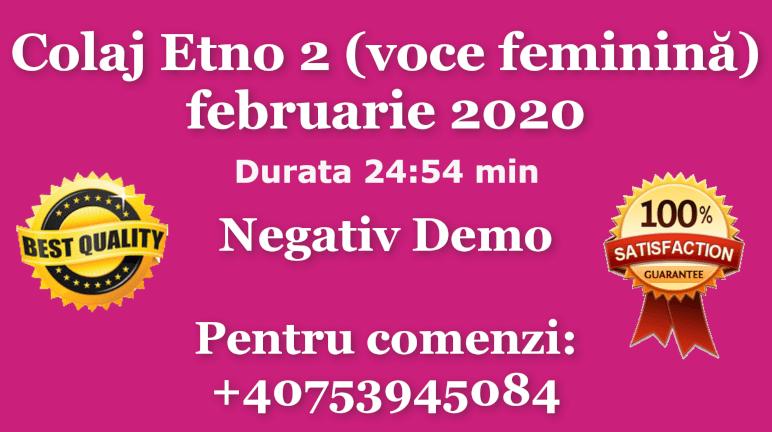 Colaj Etno 2 (voce feminină) – februarie 2020