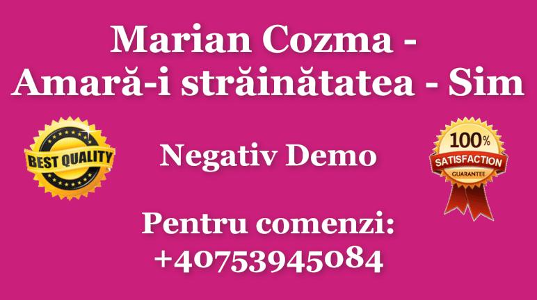 Amara-i strainatatea – Marian Cozma