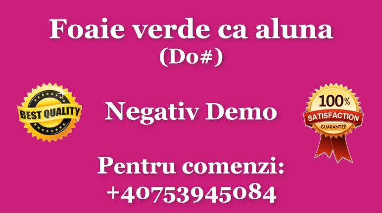 Foaie verde ca aluna – Do diez – Negativ Karaoke Demo by Gabriel Gheorghiu