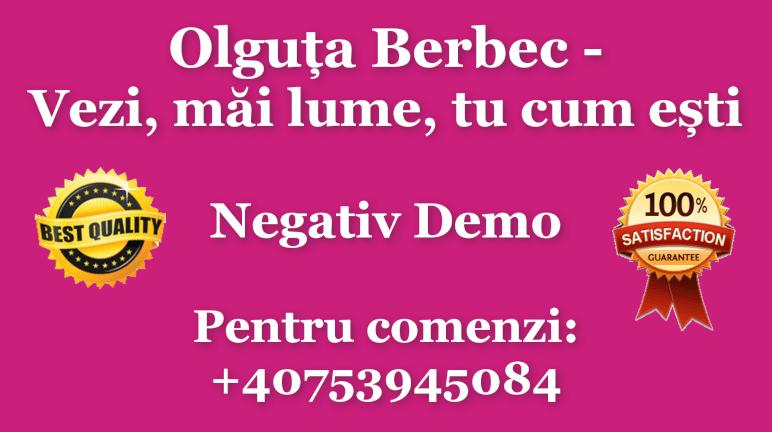 Vezi, mai lume, tu cum esti – Olguta Berbec – Negativ Karaoke Demo by Gabriel Gheorghiu