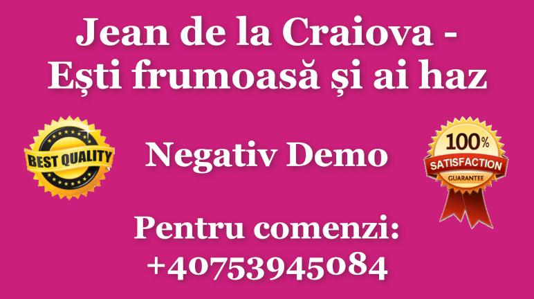 Esti frumoasa si ai haz – Jean de la Craiova – Negativ Karaoke Demo by Gabriel Gheorghiu