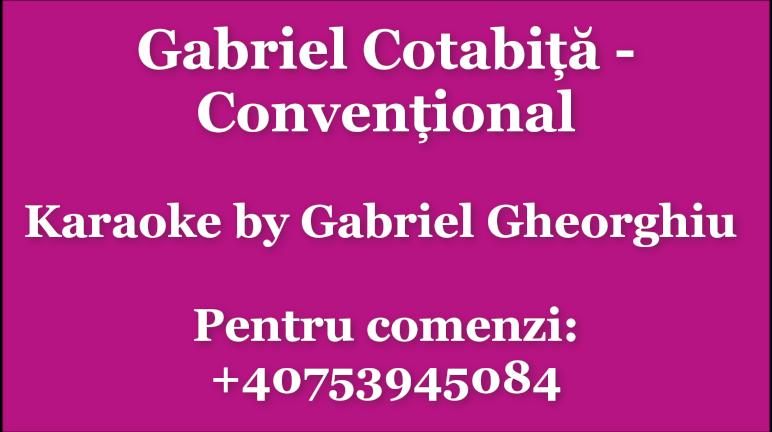 Conventional – Gabriel Cotabita