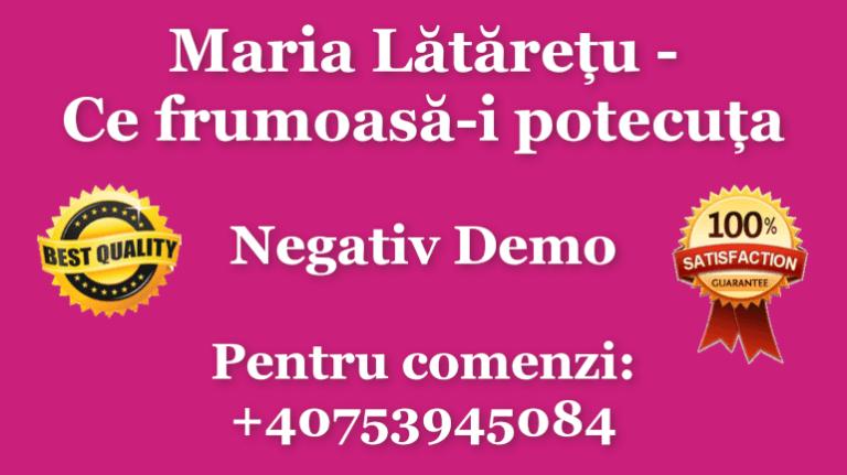 Maria Lataretu Ce frumoasa-i potecuta