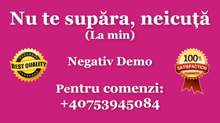 Nu te supara, neicuta – La min – Irina Loghin – Negativ Karaoke Demo