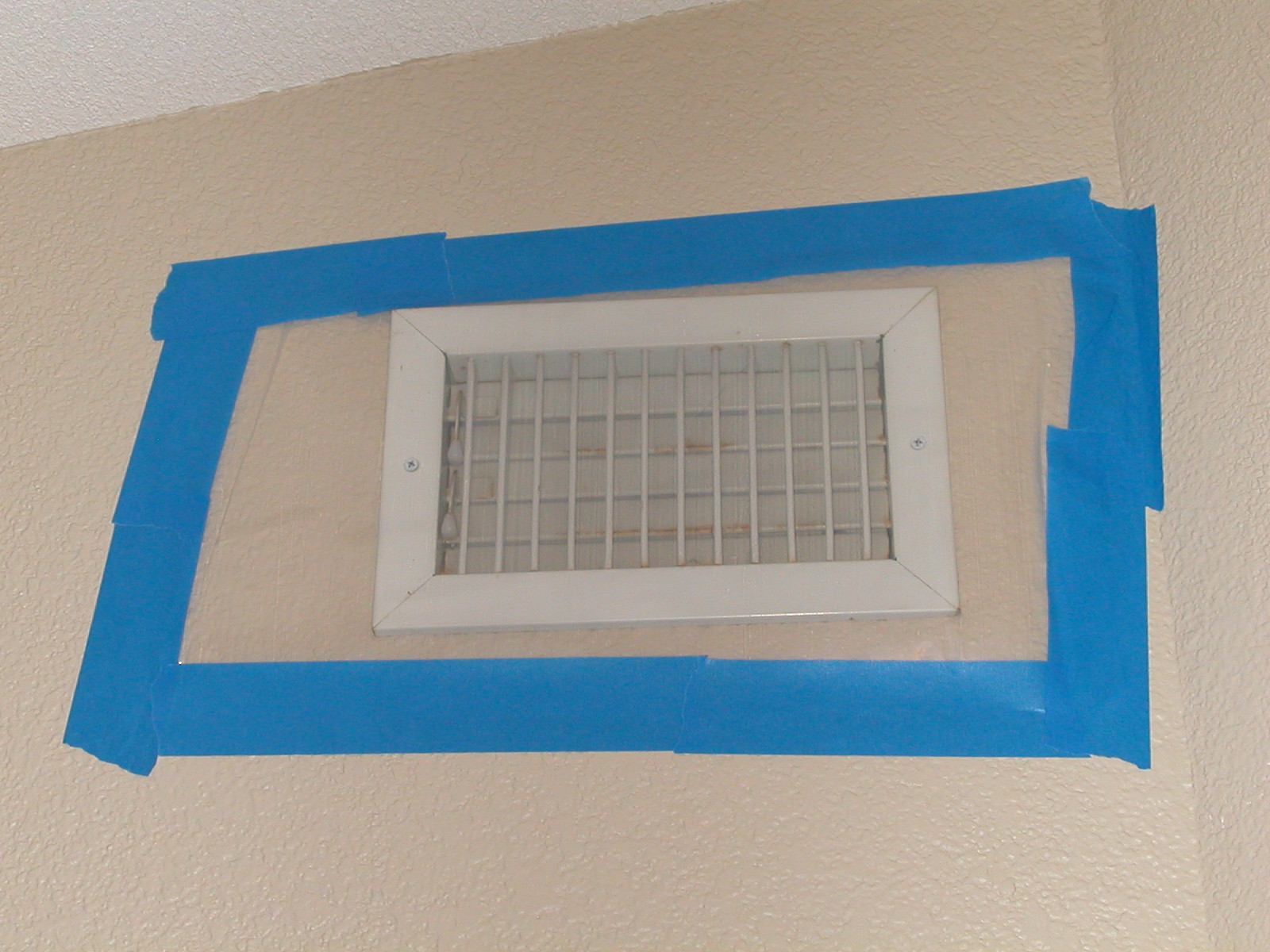 Tape off all air vents