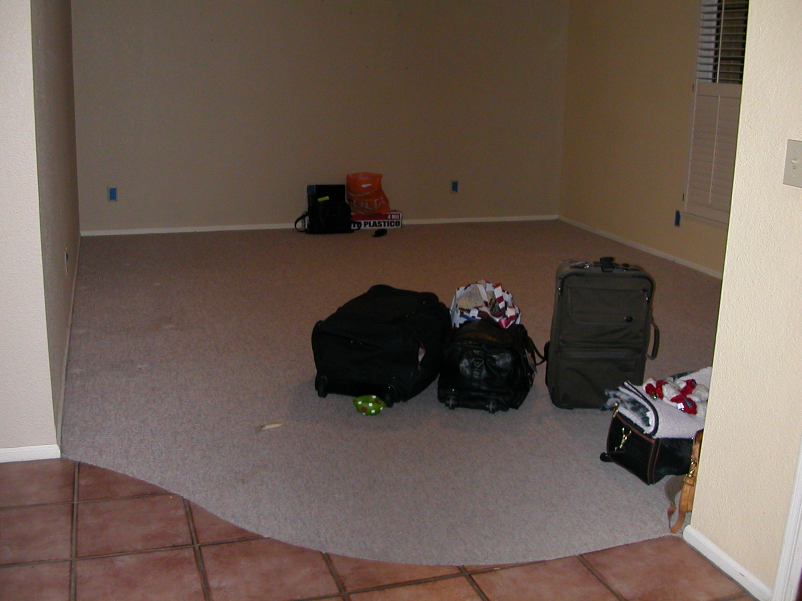 Living room, before