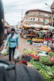 Marktbesuch am Morgen
