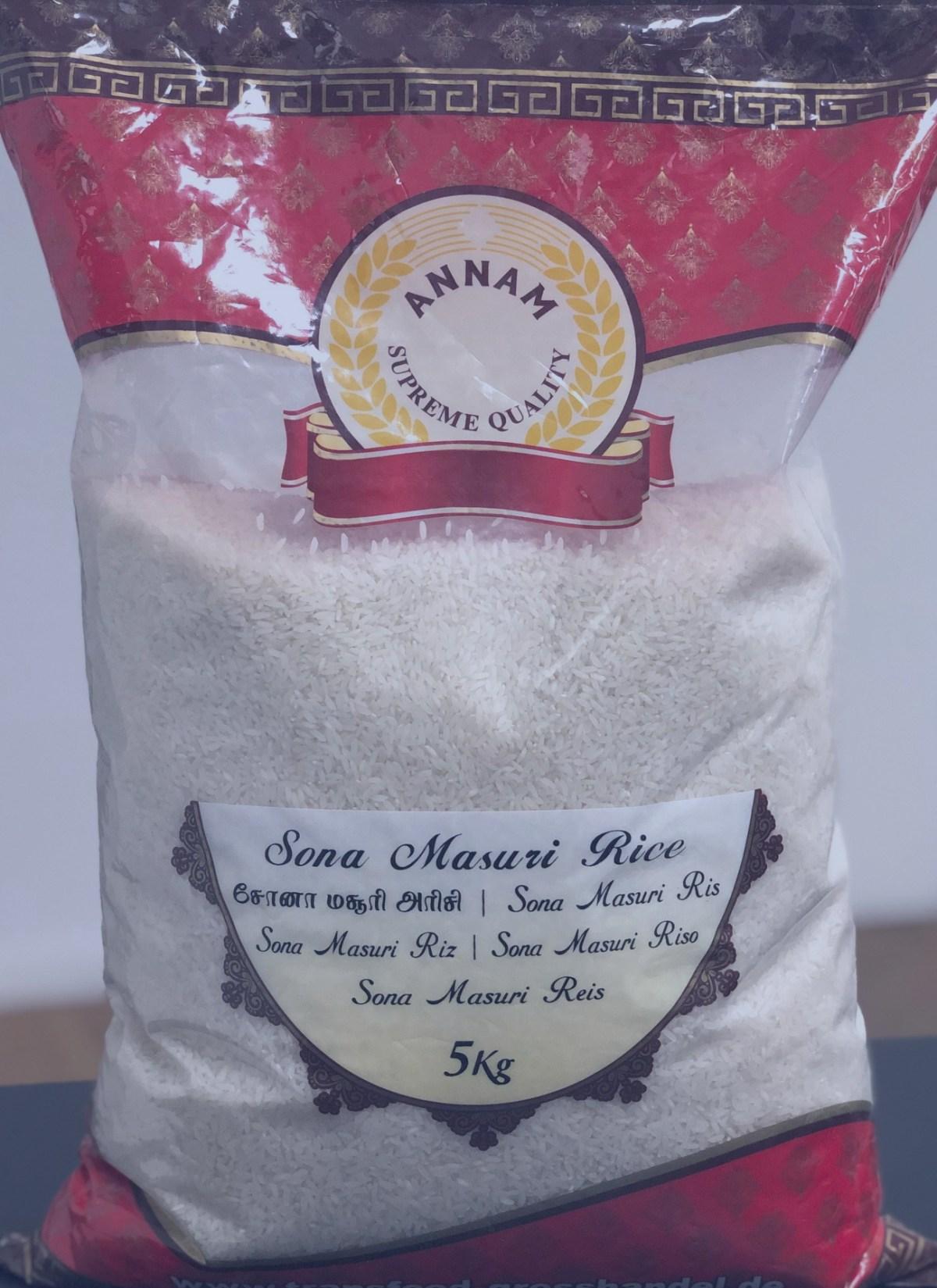 annam sona masoori reis rice