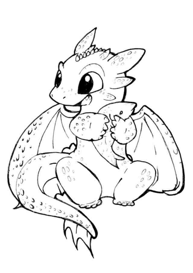 Free & Easy To Print Dragon Coloring Pages - Tulamama