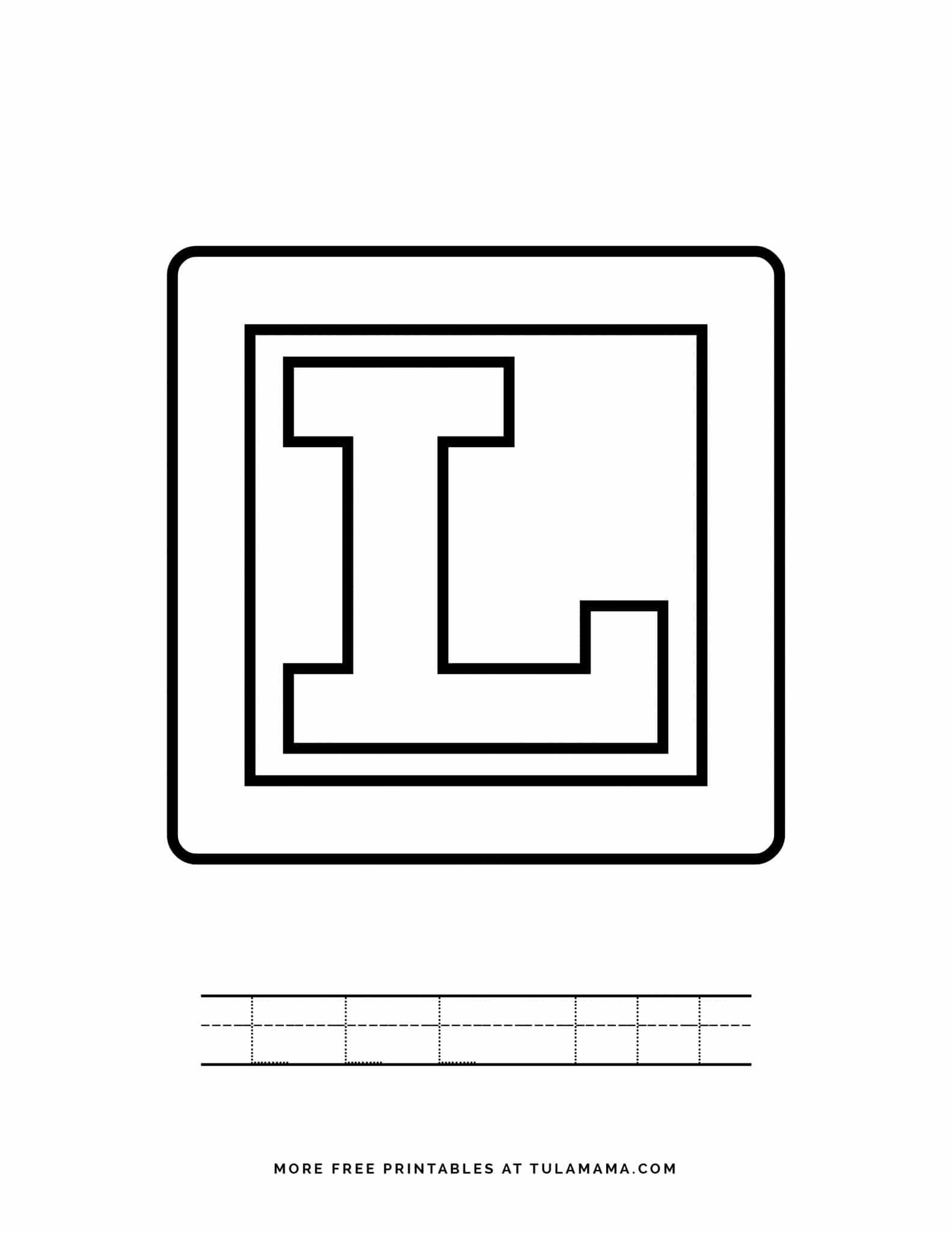 Free Printable Alphabet Blocks Tracing Worksheets For
