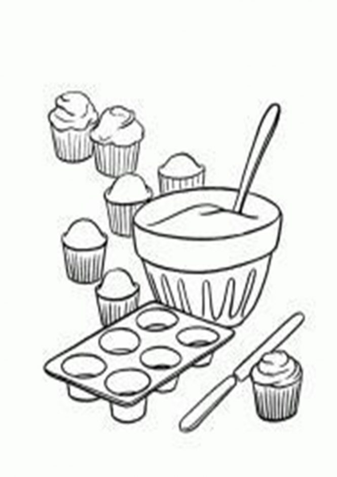 Free Easy To Print Cupcake Coloring Pages Tulamama