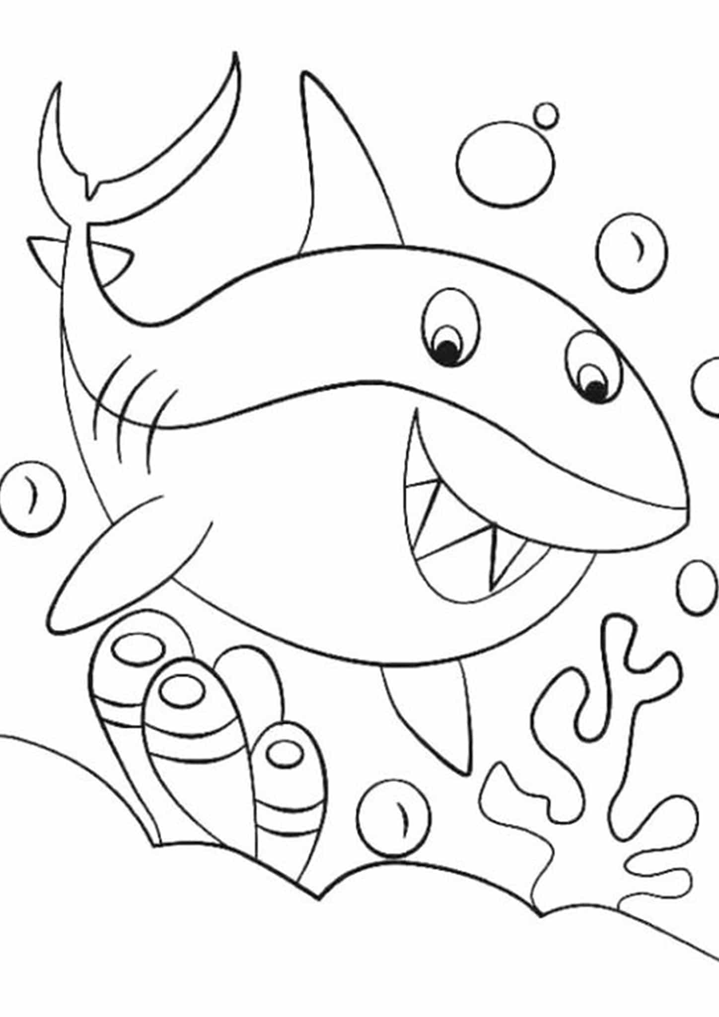 Free Amp Easy To Print Shark Coloring Pages