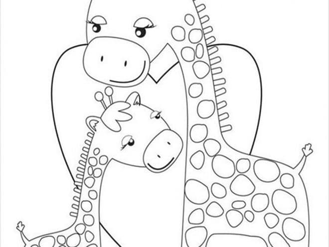 Free Easy To Print Giraffe Coloring Pages Tulamama