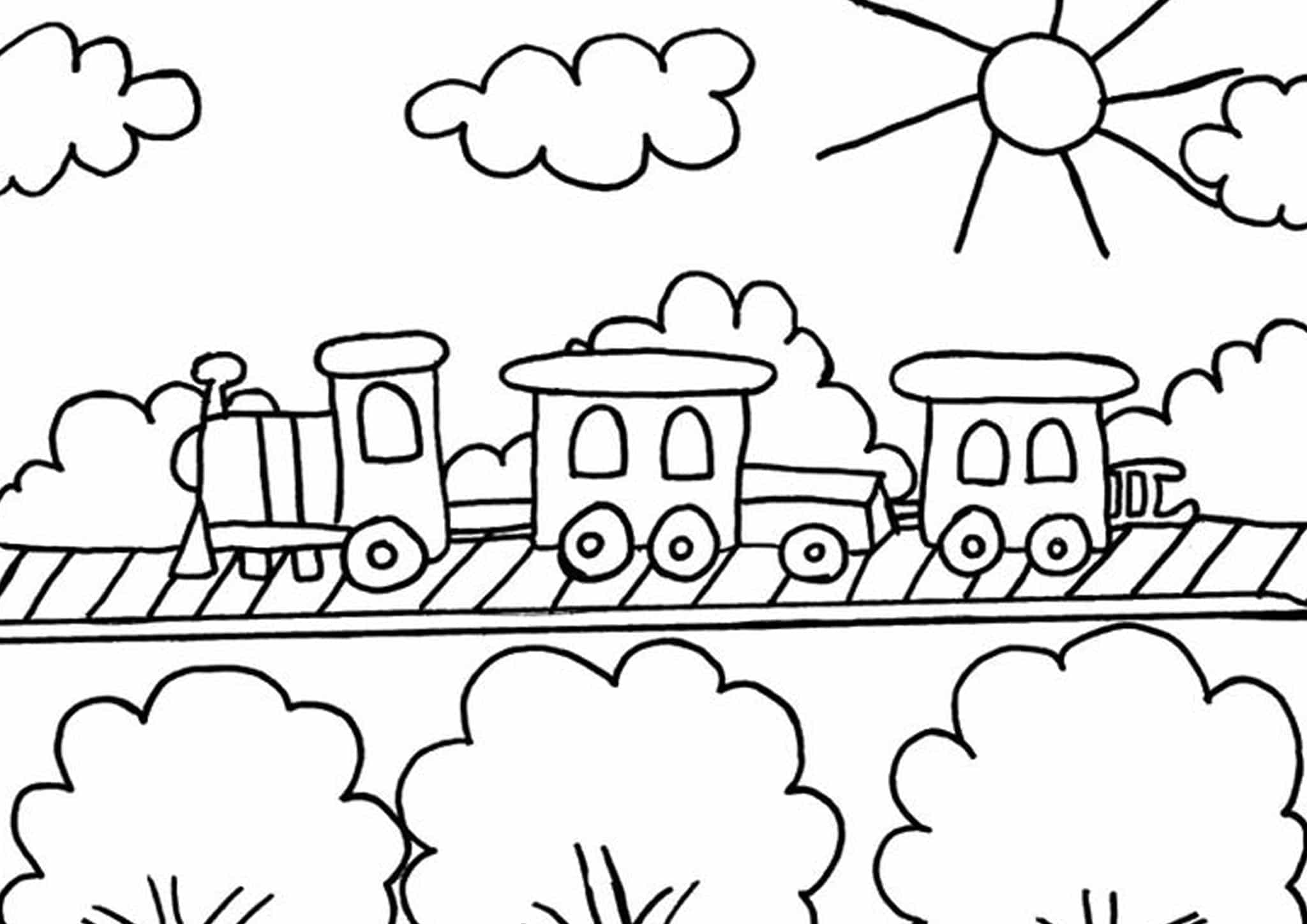 Free Amp Easy To Print Train Coloring Pages