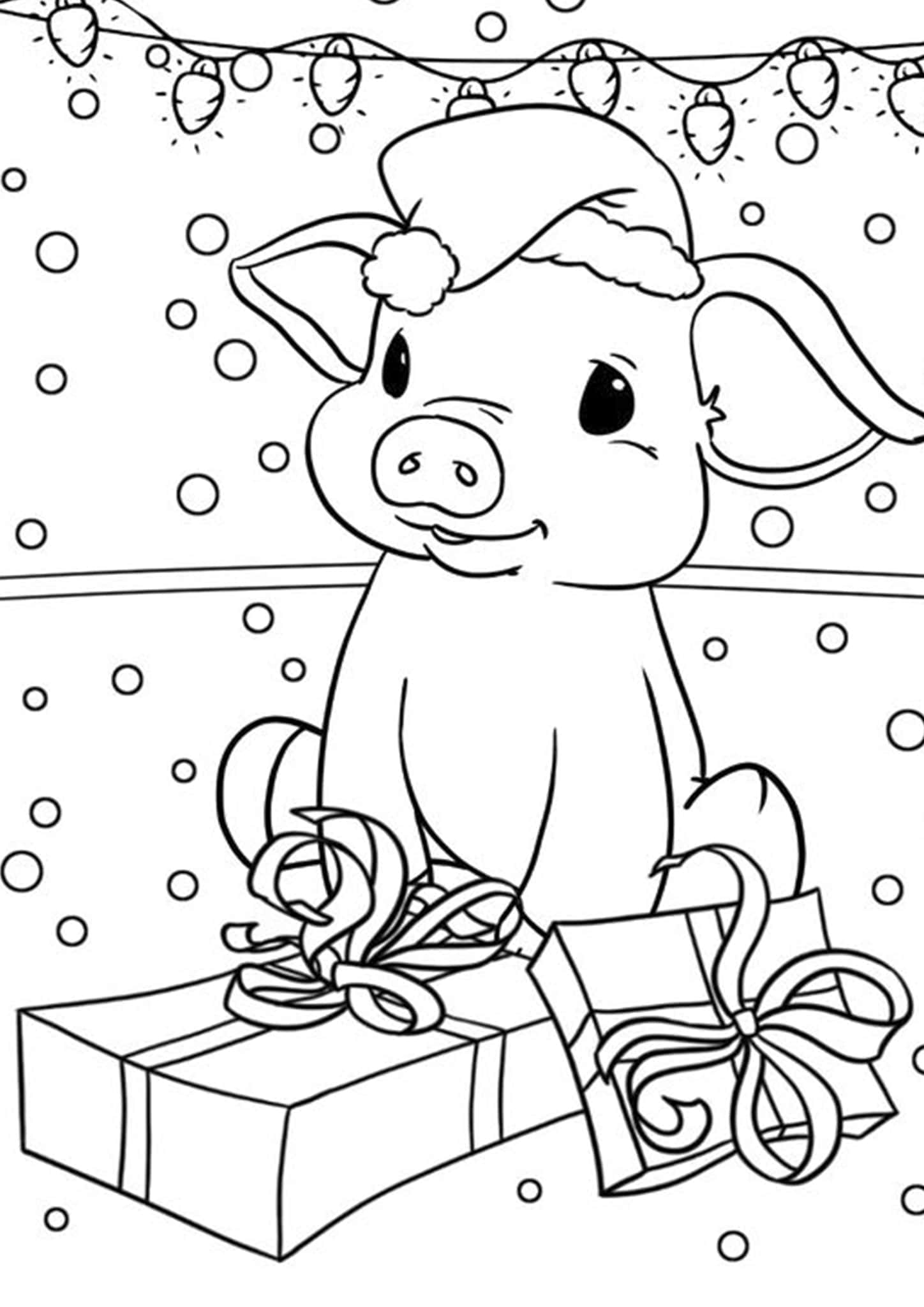 Free Amp Easy To Print Pig Coloring Pages