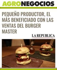 agronegocios la republica pequeño productor burger master