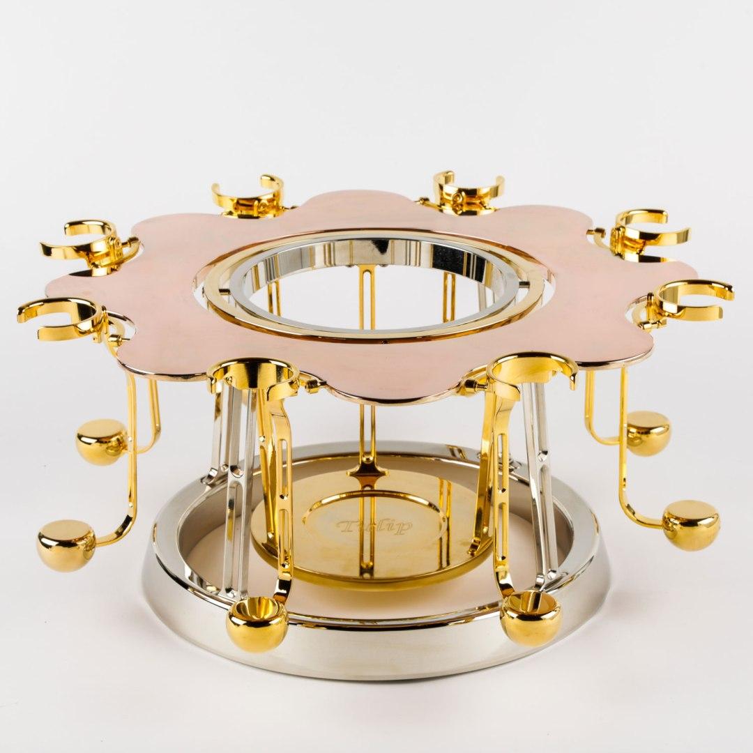 écrin à champagne de luxe or rose édition