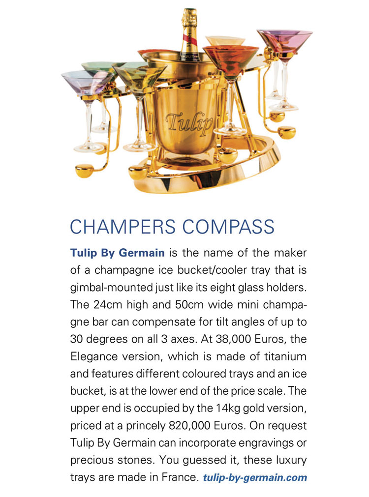 Boat Exclusive magazine Luxury champagne bucket