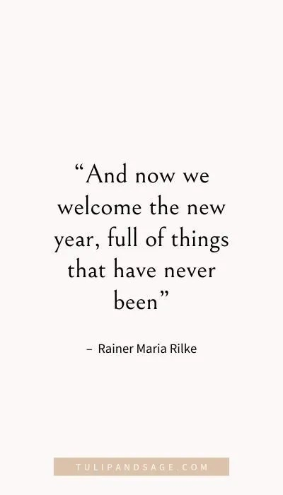 new year quotes to inspire a fresh start tulip and sage