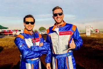 Rafael e Poit garantiram o oitavo tempo na Pajero TR4 ER. Foto: Sanderson Pereira