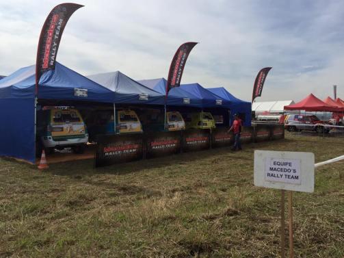 Infraestrutura da Macedo´s Rally Team durante o campeonato