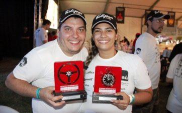 O casal Leonardo Piccolotto Magalhães e Priscilla Moreira Argentin (Marcos Theodoro RJ - Fotos)