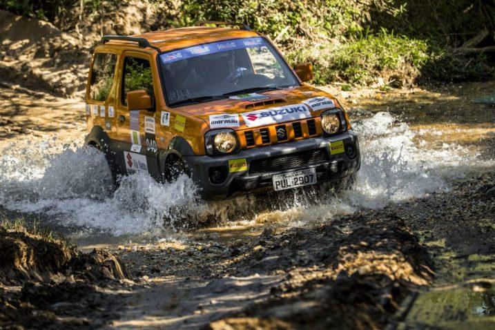 Diversão garantida nas trilhas off-road. Foto: Murilo Mattos / Suzuki
