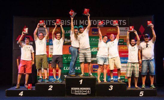 No final da etapa, os melhores de cada categoria são premiados Crédito: Ricardo Leizer / Mitsubishi