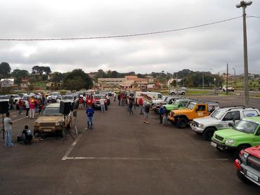 A largada da etapa de Castro foi realizada nesta sábado às 9 horas (Foto: Igor Quirrenbach de Carvalho)