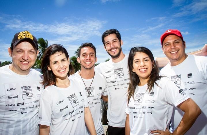 Amigos e famílias participam da prova Crédito: Adriano Carrapato / Mitsubishi