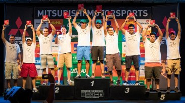 Pódio da categoria Turismo Crédito: Adriano Carrapato / Mitsubishi