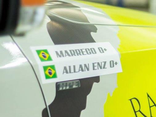 """A dupla Otávio """"Marreco"""" Enz e Allan Enz são notícia na Globo do Paraná"""