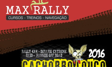 Promoção Curso/Treino Max Rally e Camiseta Cachorro Louco