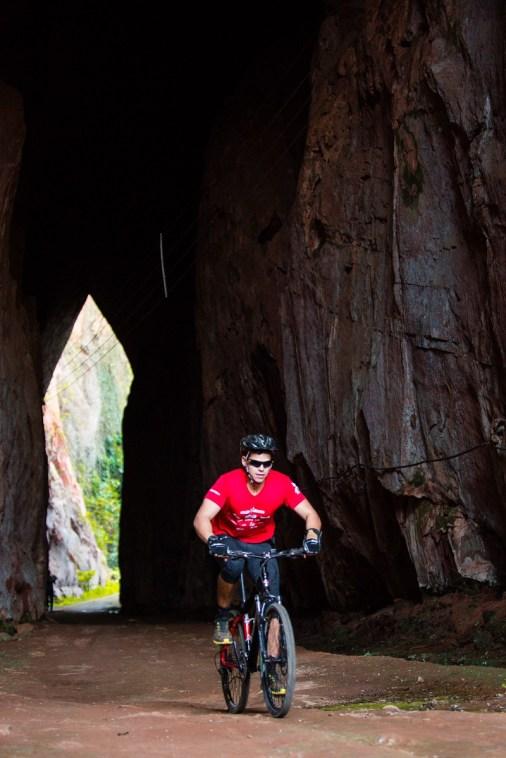 Passeio de bike também fez parte da aventura. Foto: David Santos / Mitsubishi