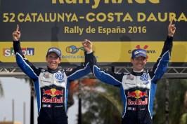 Julien Ingrassia (F), Sébastien Ogier (F) WRC Rally Catalunya 2016 Photo: Bodo Kräling