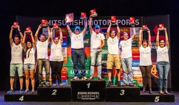 No final da etapa, os melhores de cada categoria são premiados. Foto: Adriano Carrapato / Mitsubishi