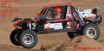 Modelo do buggy que a a dupla competirá na África, a partir de segunda-feira