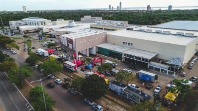 Parque de apoio das equipes no Capim Dourado Shopping (Lucas Carvalho/PhotoAction)
