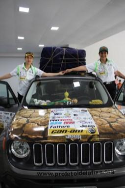 Tânia Mara e Ana Paula pouco antes de seguirem viagem (Divulgação)