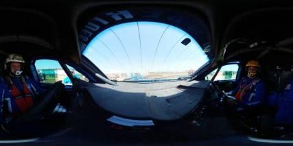 Cockpit da dupla durante a disputa do Rally dos Sertões 2017 (André Chaco/Fotop)