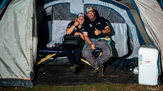 Casal Fontoura e Sandra: ambos pilotos e campeões nas respectivas categorias (Ricardo Leizer/ Fotop)