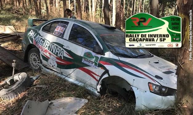 Veja, de dentro do carro, o acidente do Paulo Nobre, ex-presidente do Palmeiras, no rally