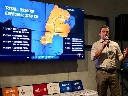 Marcos Moraes apresenta o roteiro do Rally dos Sertões 2018 (Ricardo Ribeiro/Vipcomm)