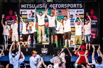 Pódio Mitsubshi Motorsports Turismo 2017 (Crédito Adriano Carrapato)