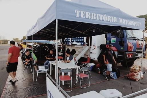 Box da Território Motorsport neste fim de semana, em Araçatuba (Pedro Santos/PhotoAction)