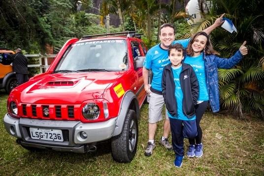 Passeio off-road é ideal para se divertir em família. Foto: Vinicius Ferraz/Suzuki