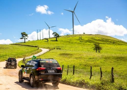 Belas paisagens durante o percurso. Foto: Ricardo Leizer / Mitsubishi