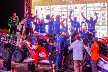 Festa das três duas de UTV da Território Motorsport na rampa de chegada (Marcelo Machado/Fotop)