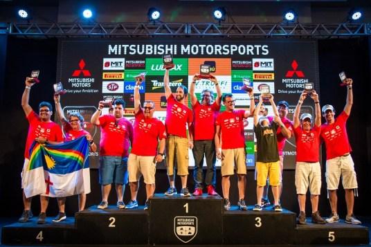 Pódio da categoria Graduados, campeonato Nordeste 2018 (Foto: Adriano Carrapato/Mitsubishi)